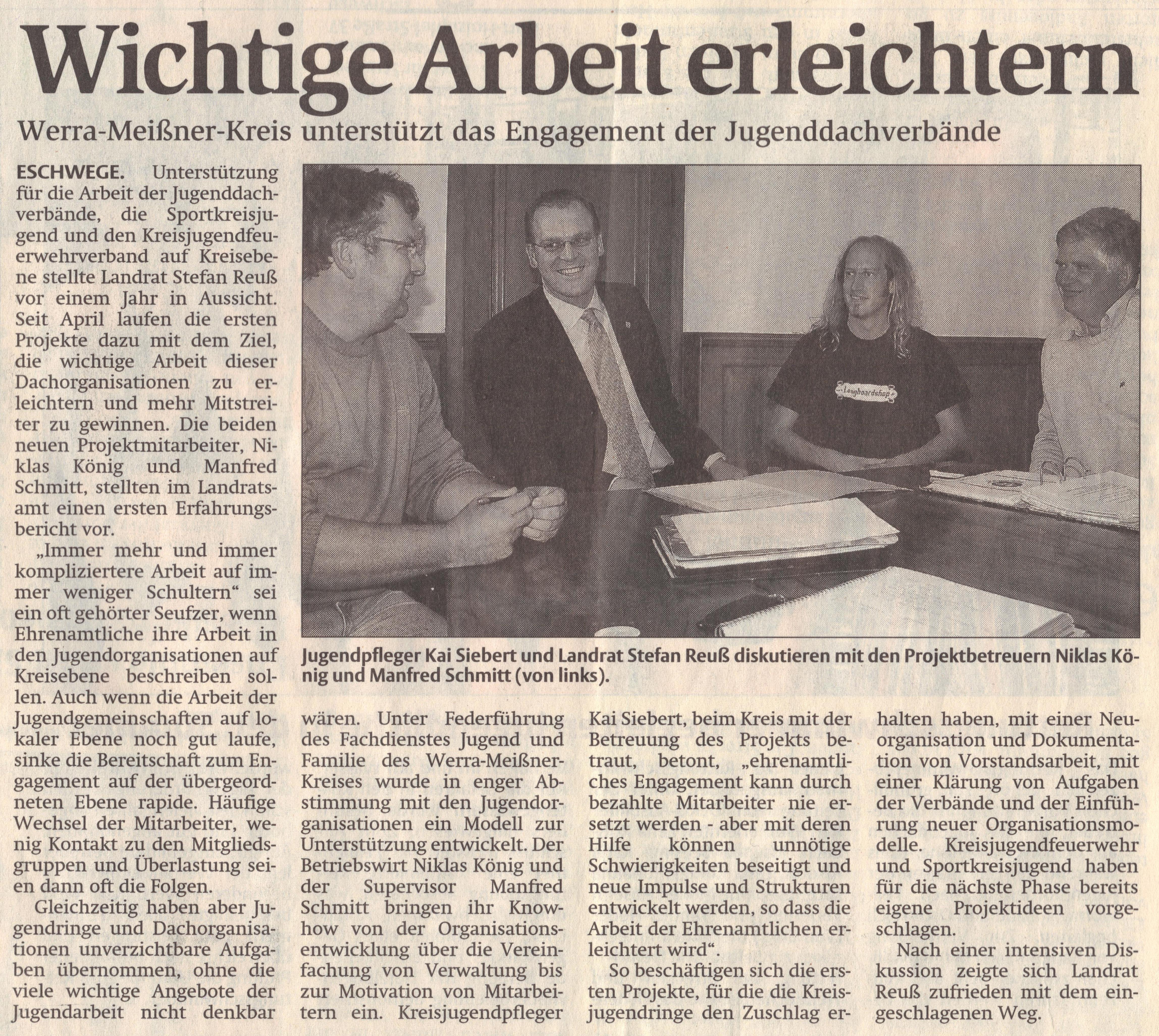 Coaching - Wichtige Arbeit erleichtern - WR 13.07.2007
