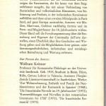 Krömer, Wolfram - Die italienische Commedia del arte - Rückseite